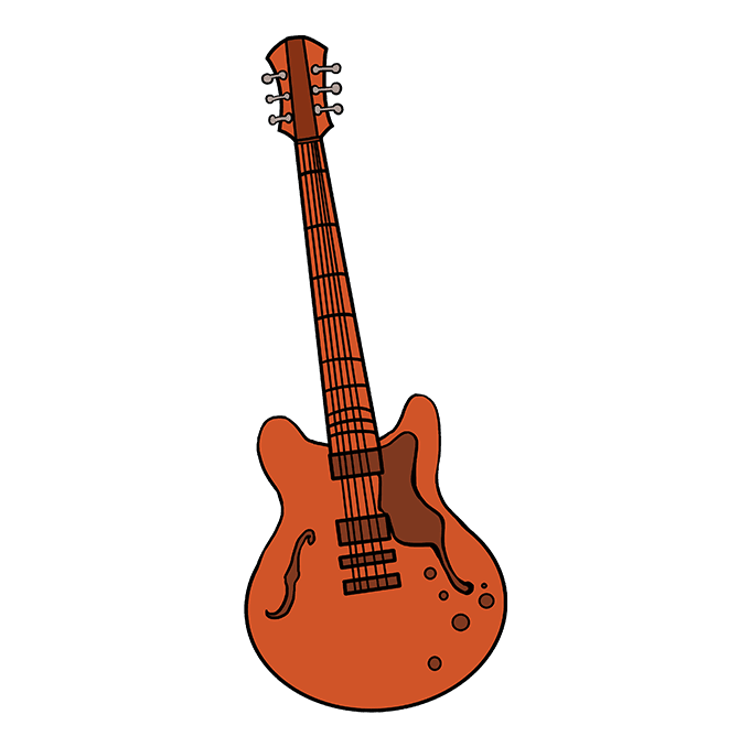 680x678 How To Draw A Guitar Really Easy Drawing Tutorial