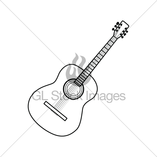 500x500 Icon Of Acoustic Guitar Gl Stock Images