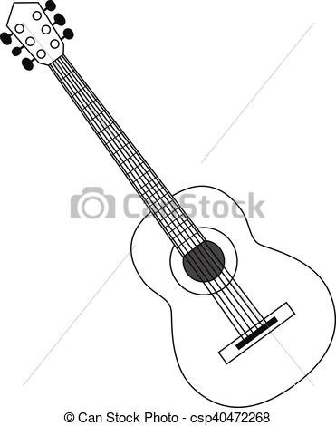 371x470 Acoustic Guitar Clipart Black And White