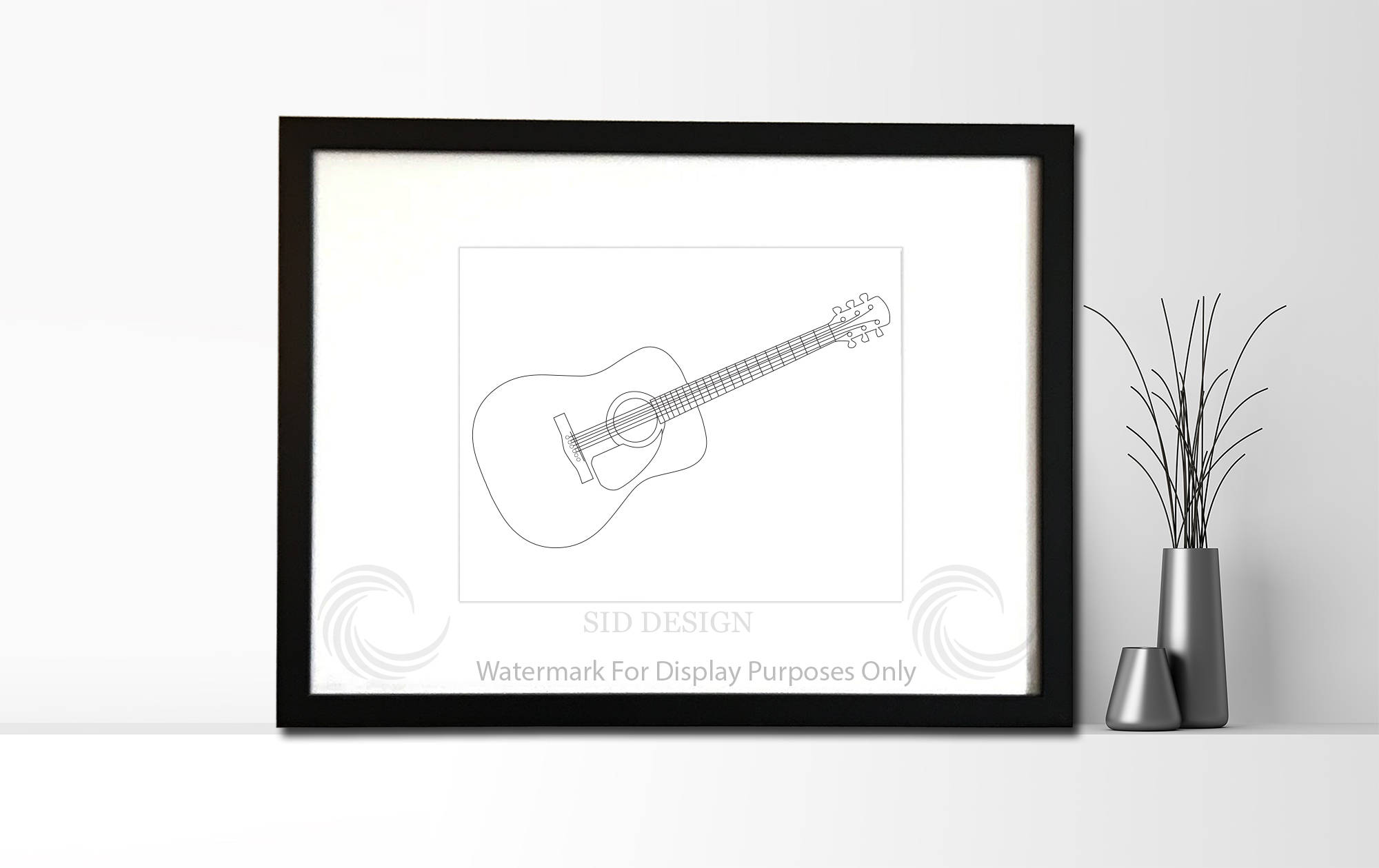 2000x1259 Authentic Sketch Of Fender Dreadnought Acoustic Guitar Etsy