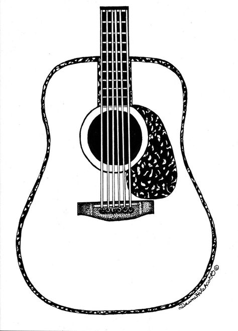 474x658 Guitar Line Drawing Clipart