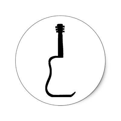 400x400 Guitar Silhouette Inspirations Board Music Tattoos, Guitar