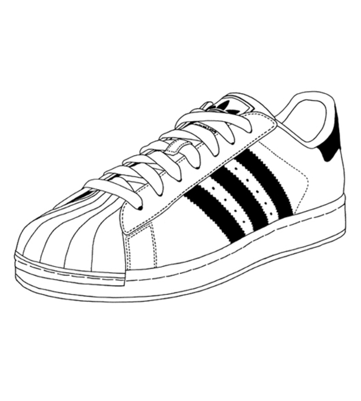 adidas drawing shoes free on clipartmag