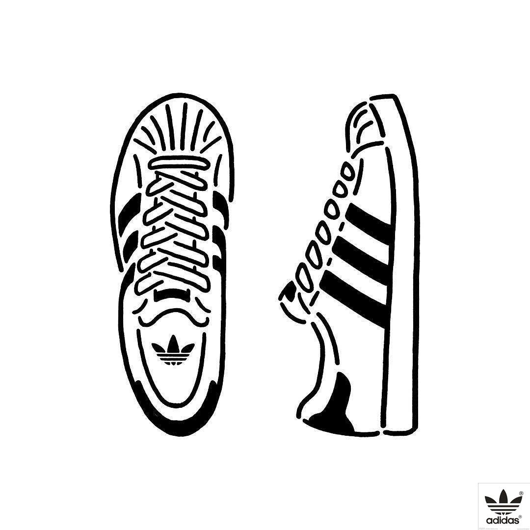 Adidas Shoes Drawing
