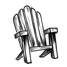 Adirondack Chair Drawing   Free download best Adirondack ...