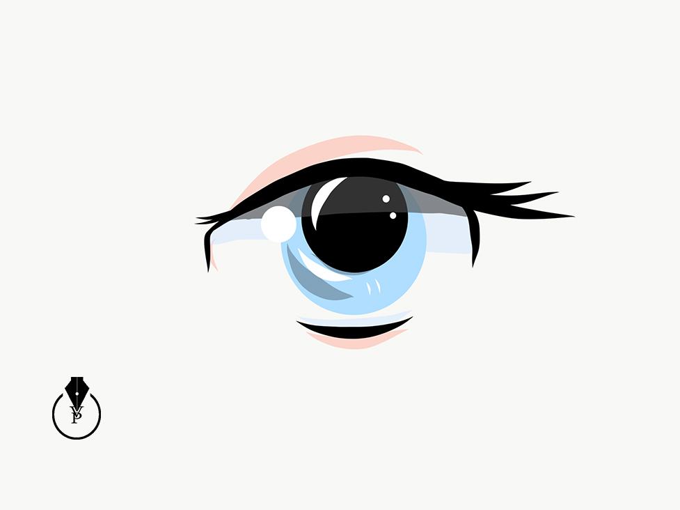 977x732 Drawing Manga Eye In Adobe Illustrator Draw On Behance