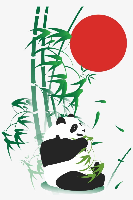 820x1228 Giant Panda Bamboo Drawing Adobe Illustrator