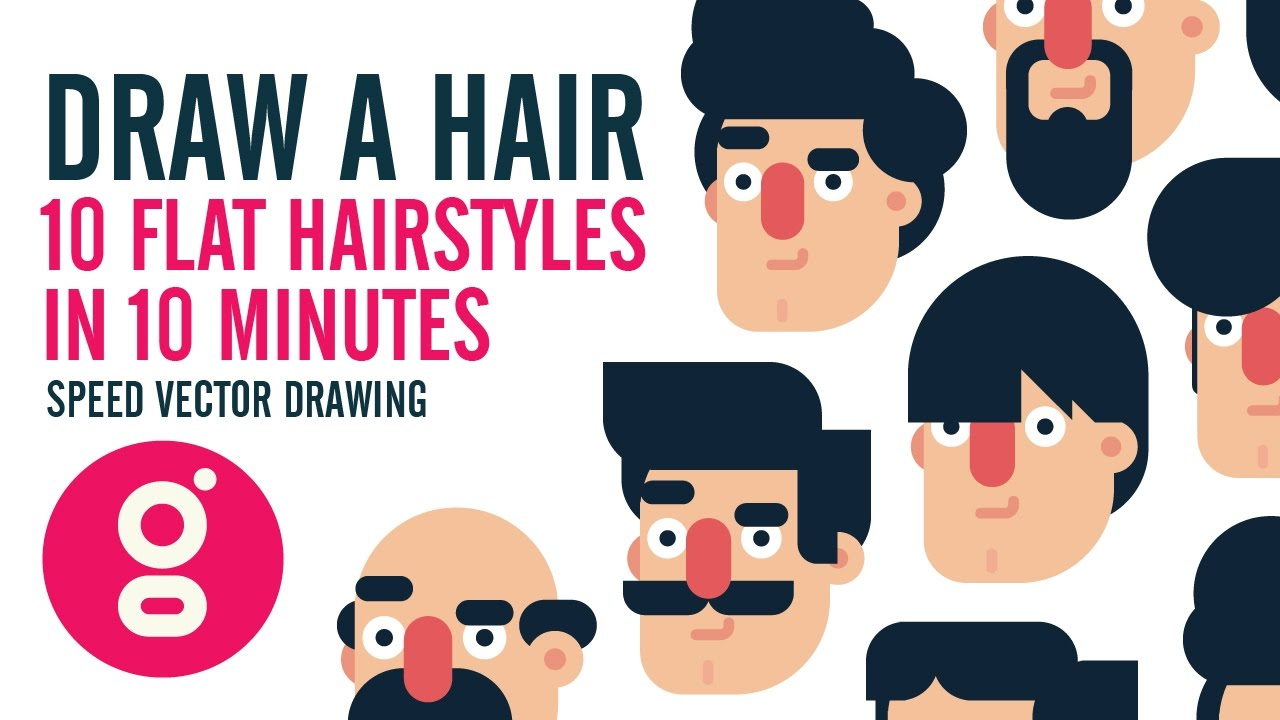 1280x720 How To Draw A Hair, Flat Design Hairstyles In Minutes, Speed