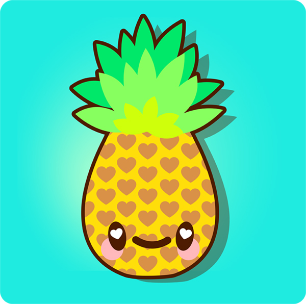 600x596 How To Draw A Simple, Super Kawaii Pineapple In Adobe Illustrator