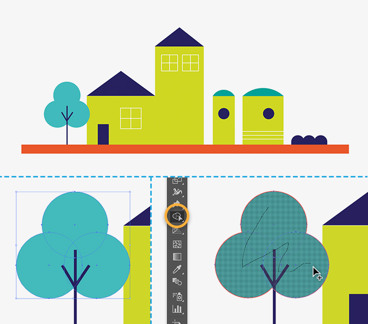 725x639 How To Draw Buildings With Shapes Adobe Illustrator Tutorials