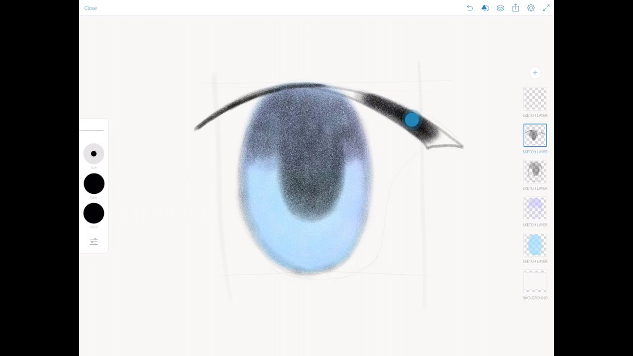 1280x720 Speed Paintingmanga Eyes Drawing In Adobe Photoshop Sketch
