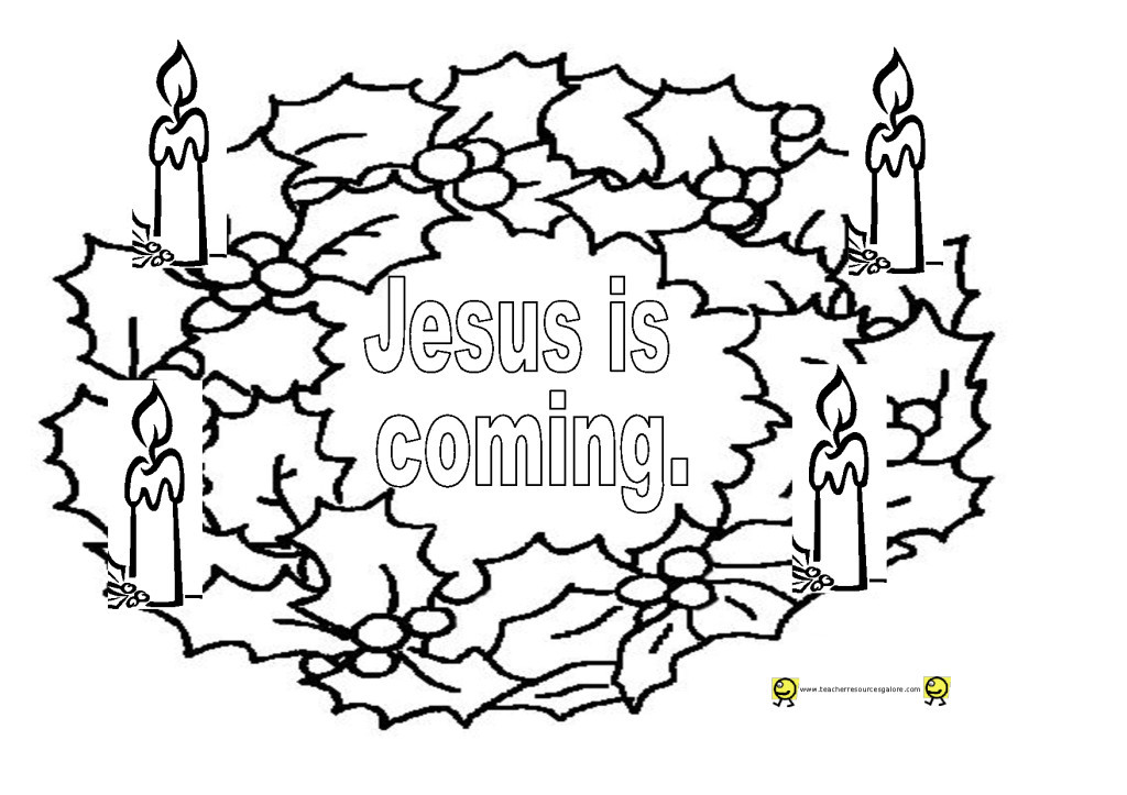 1024x723 advent coloring pages for kids advent wreath coloring