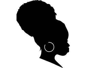 340x270 African American Woman Silhouette Clip Art