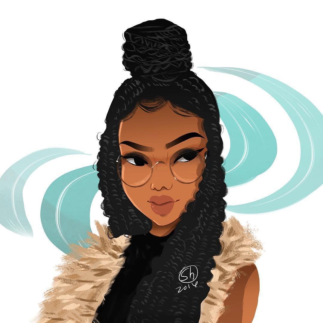 1080x1080 Black Girl Cartoon Drawings
