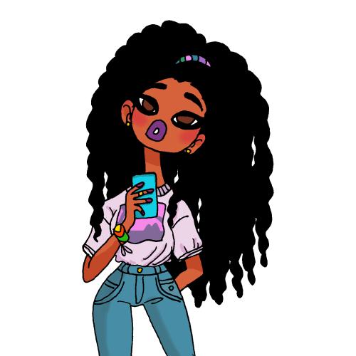 500x500 Black Girl Cartoon Drawings