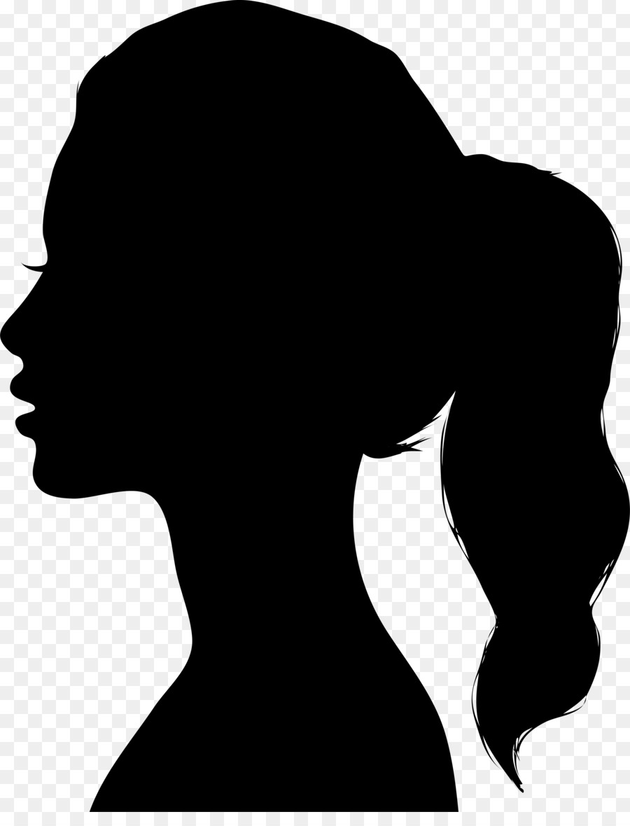 900x1180 Black Woman Silhouette Drawing