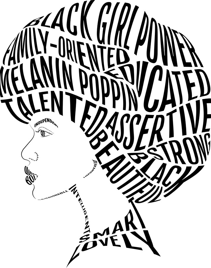 710x900 Afro Drawing Black Female For Free Download