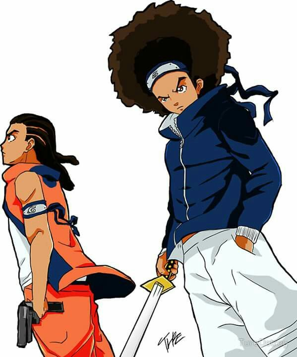 599x720 The Boondocks Cool In Anime Art, Black Anime Characters, Art