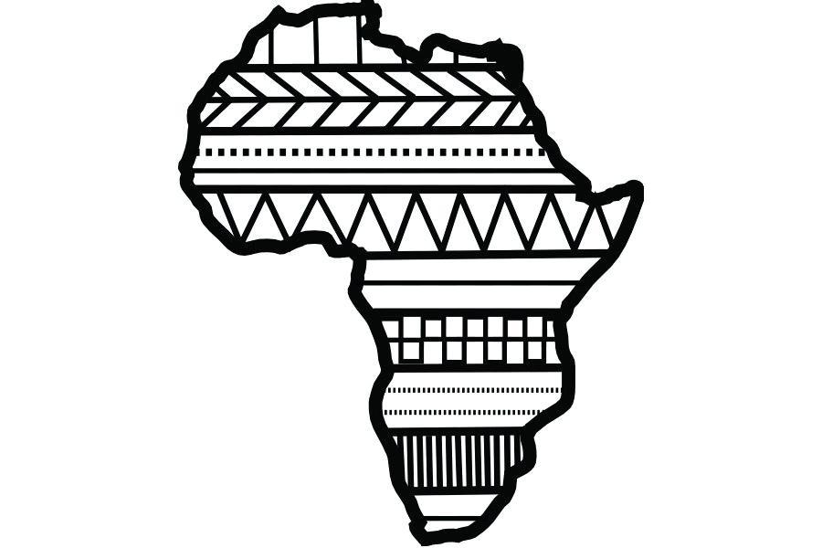 900x600 Drawing Of Africa Nip