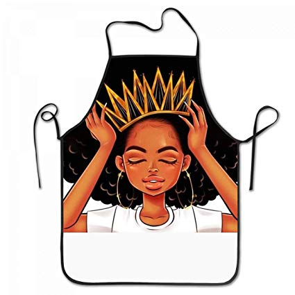 425x425 Sara Nell Apron African American Women Girl With Crown