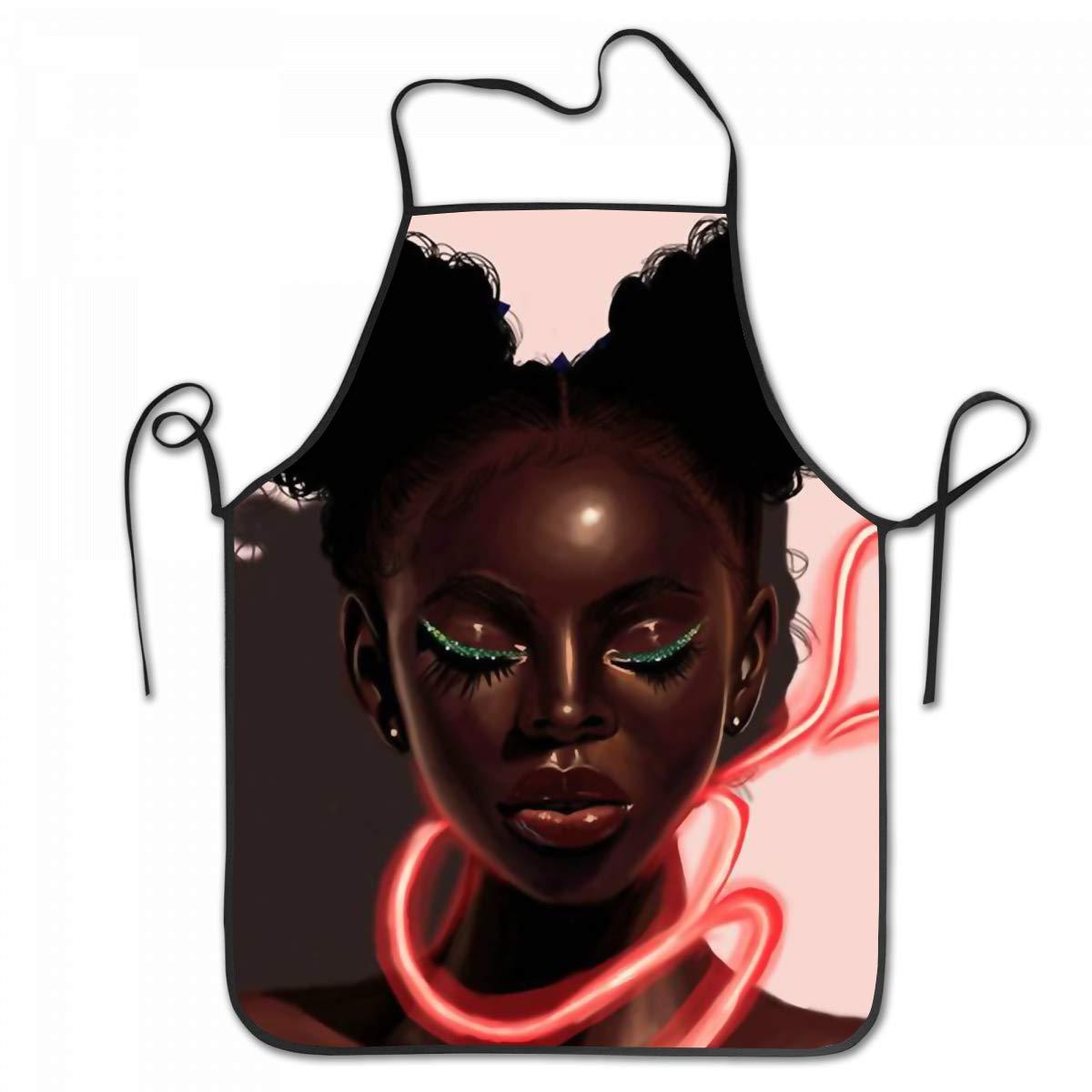 1200x1200 Sara Nell Apron Black Art African American Girl Love