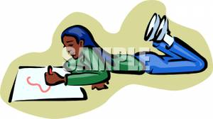 300x168 An African American Girl Drawing A Picture