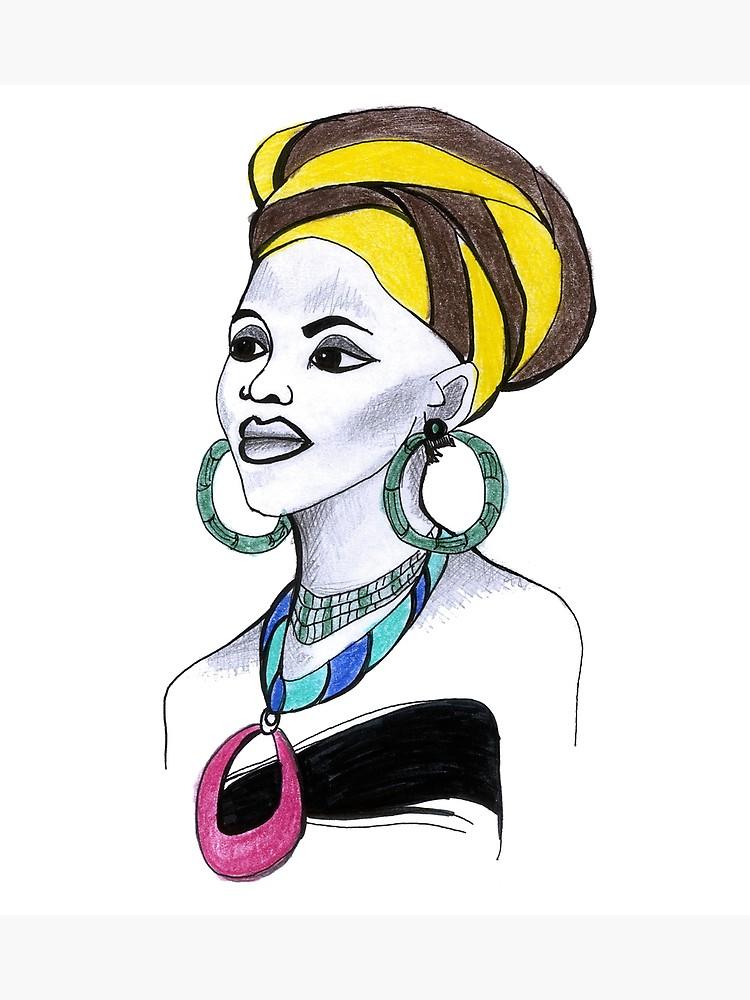 750x1000 Beautiful African Woman Art Design Gift Afro American