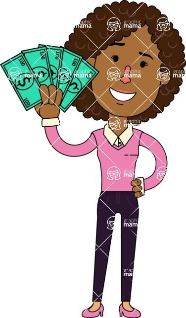 376x640 Minimalistic African American Girl Vector Character Design Aka Liana