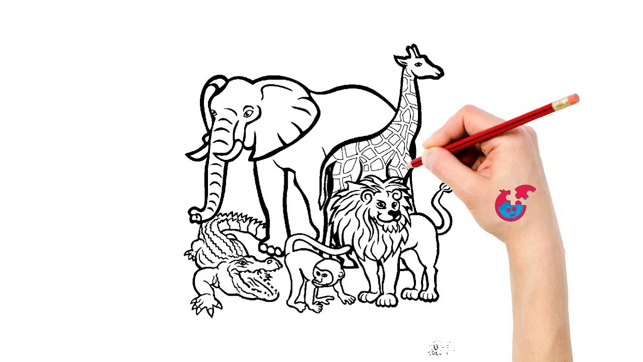 1280x720 How To Draw African Animals