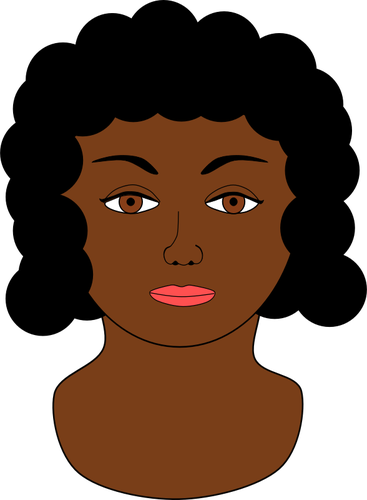367x500 African Girl With Closed Eyes Profile Vector Drawing Public