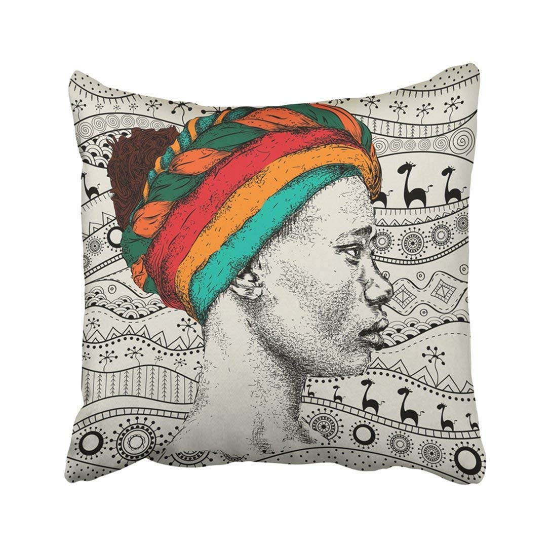 1088x1088 Custom Colorful Girl In Turban With African Hand Draw