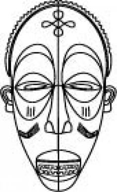 African Mask Drawing