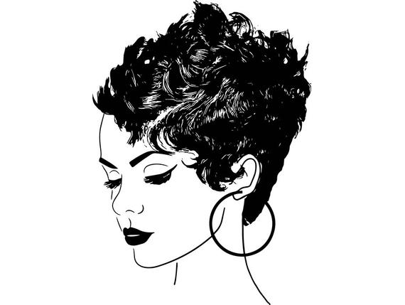 570x429 Afro Woman Princess Queen Afro Hair Beautiful African Etsy
