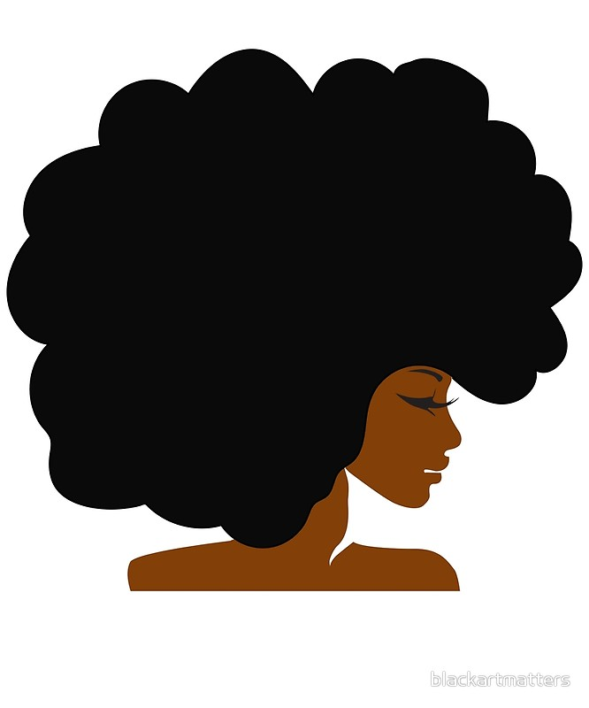 666x800 Black Girl With Afro Hair Silhouette
