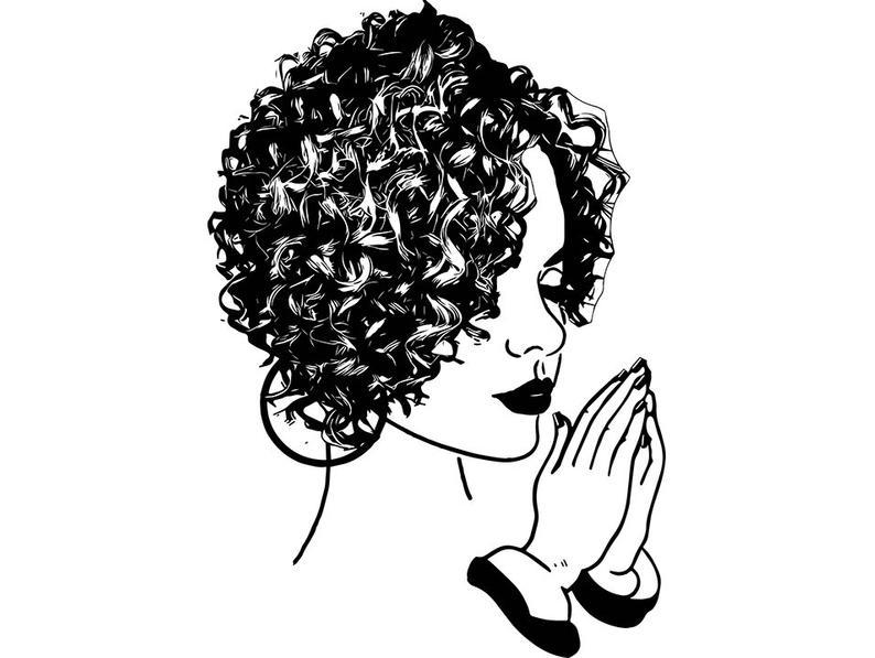 794x597 Black Women Praying Nubian Princess Queen Afro Hair African Etsy