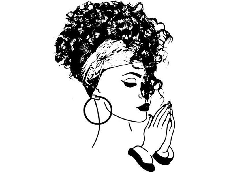794x597 Black Women Praying Nubian Princess Queen Afro Hair Beautiful Etsy