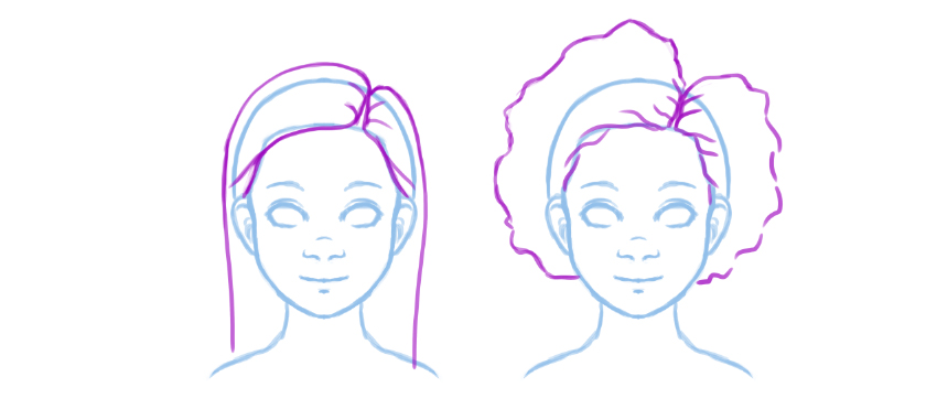 850x371 How To Draw Natural, Textured, Afro Hairstyles