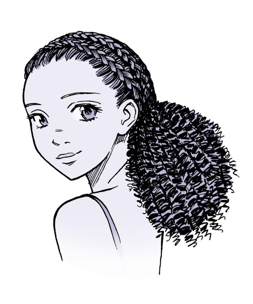 852x1024 Hairstyles Drawing Wavy Hair For Free Download