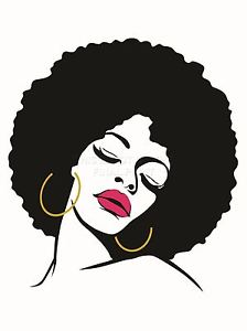 224x300 Art Print Poster Painting Drawing Woman With Afro Hairstyle