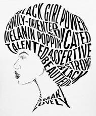 190x228 Afro Hair Word Art Design Women's Organic T Shirt Spreadshirt