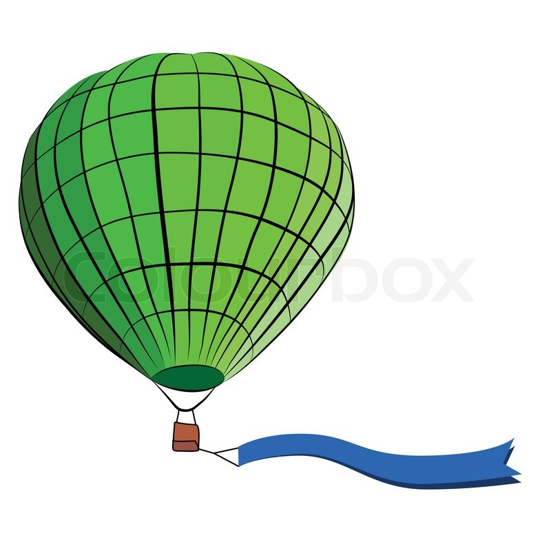 800x800 Drawing Of Hot Air Balloon On White Stock Vector Colourbox