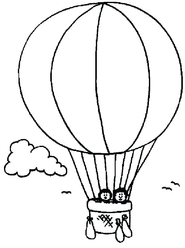 600x803 Hot Air Balloon Pictures To Color Hot Air Balloon Drawing Hot Air