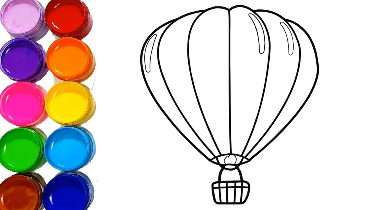 1280x720 Parachute Drawing Very Easy Step