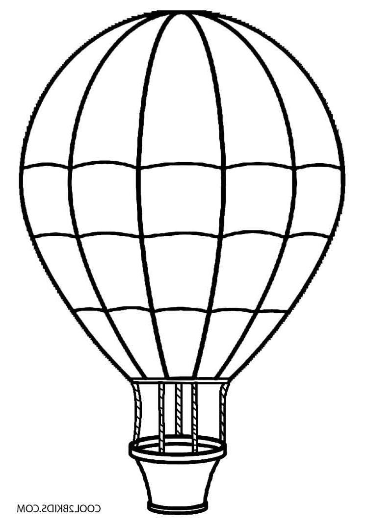 750x1071 Best Hot Air Balloon Clipart Black And White Drawing With Hot Air