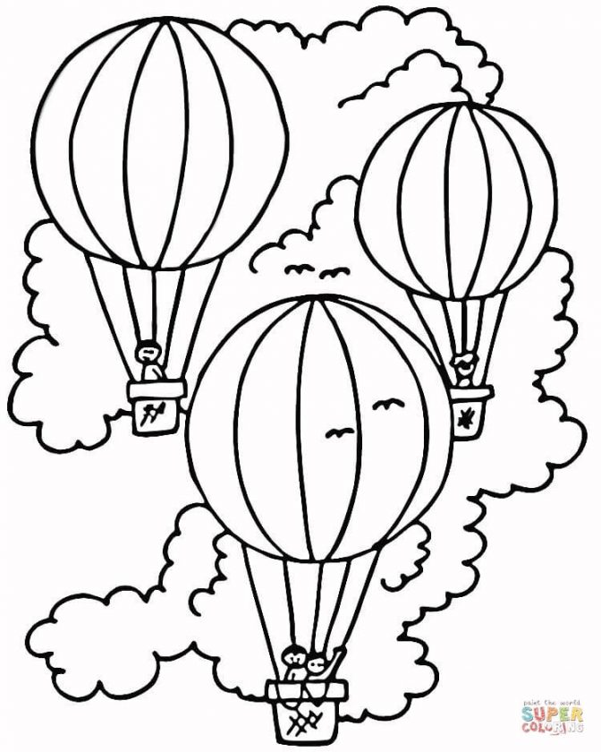 672x840 Coloring Astonishing Drawings Of Hot Air Balloons Hot Air