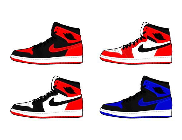 Air Jordan 1 Drawing
