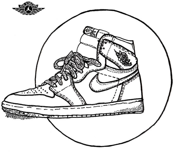 sports shoes 0dc7c b0052 Air Jordan 1 Drawing | Free download best Air Jordan 1 ...