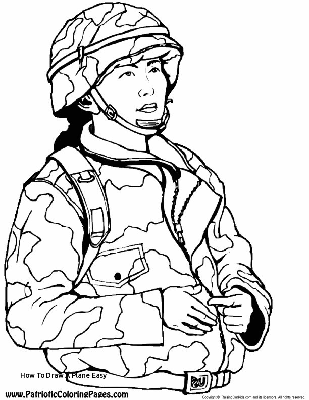 612x792 Coloring Attractive How To Draw A Plane Easy Army Coloring Pages