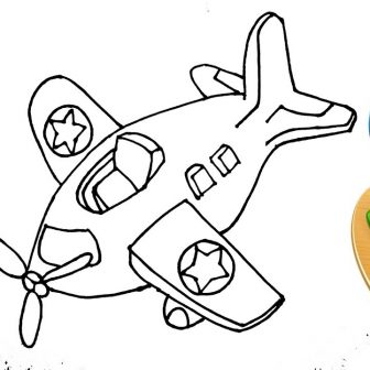 336x336 Wonderful Airplane Drawing Easy And Cool Images Colouring I