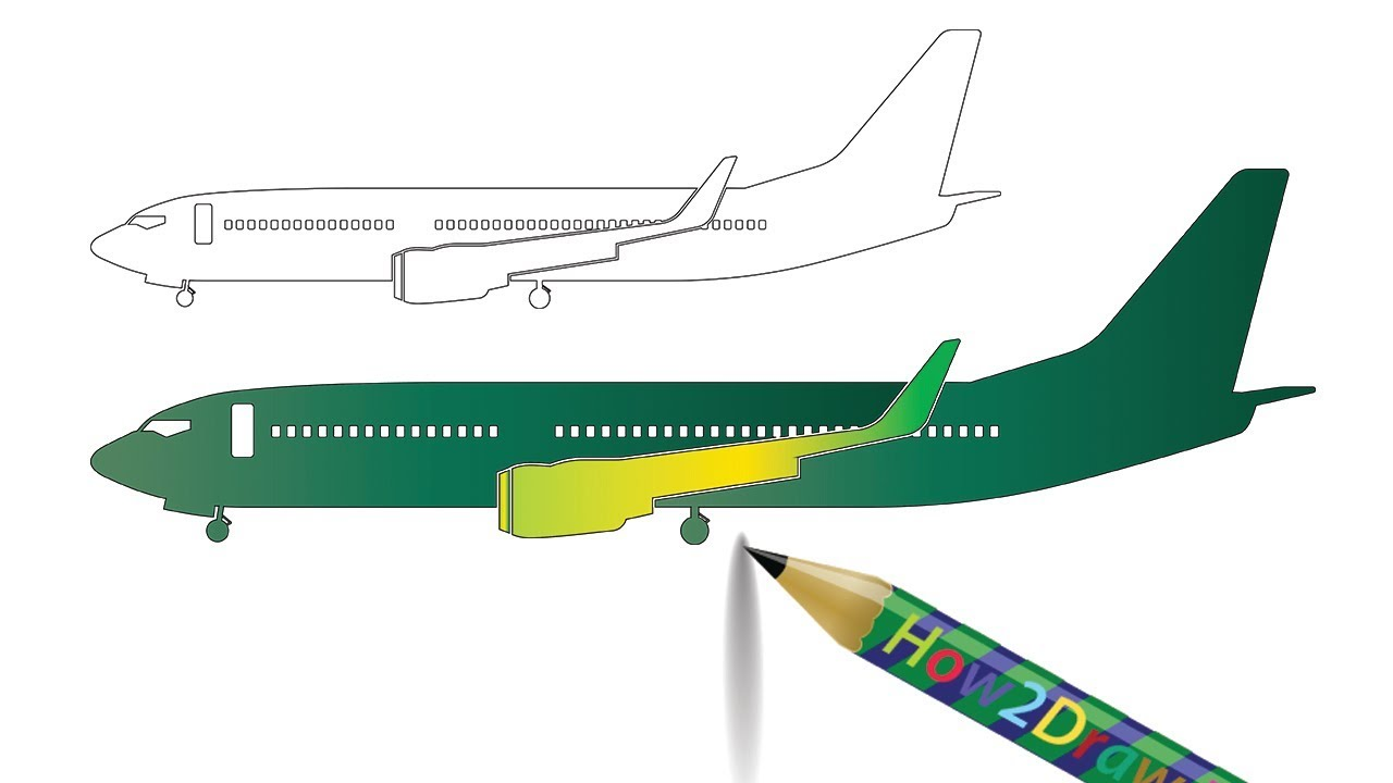 1280x720 How To Draw An Airplane Step